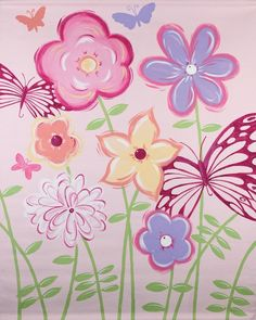 Fun Flowers Mural Banner