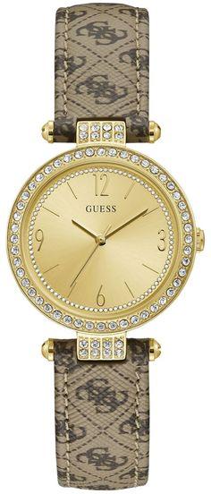 GUESS TERRACE W1230L2 | len za 97,00 € | IRISIMO Browning Logo, Michael Kors Watch, Gold Watch, Baby Shop, Jewelry Watches, Lens, Kids Shop, Beige, Crystals