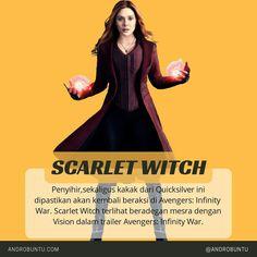 Penyihir, sekaligus kakak dari Quicksilver ini dipastikan akan muncul di film Marvel terbaru Avengers: Infinity War. Sumber: Androbuntu.com