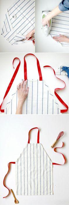 Küchenschürze ohne Schnittmuster selber nähen | DIY - Do it yourself ...