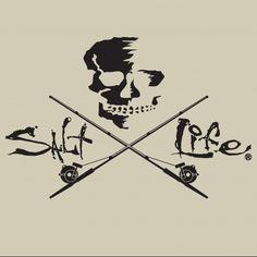 Skull & Trolling Salt Life Decal