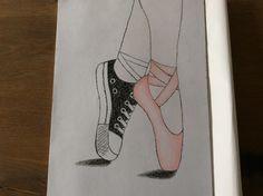 Half ballerina half normale schoen. Leuke tekening om na te tekenen Disney Drawings, Cool Drawings, Half, Bullet Journal, Ballet, Ballerina, Stone, Creative, Blog