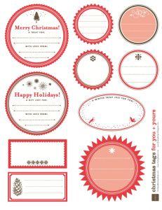 FREE Christmas gift tags...plenty!!