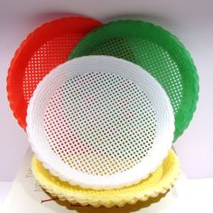 Plastic paper plate holders These plastic paper plate holders are great to manage all kinds of food items and essential at barbecues an. Paper Plate Holders, Paper Plates, Disposable Plates, Mosaic Tiles, Plastic, Camping, Makeup, Products, Mosaic Pieces