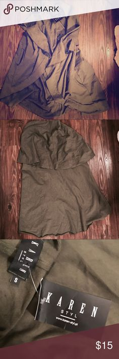 Gotta Have It!  Karen Style Army Green Vest Small Army green vest.  New with tags. Pockets!  Layer it up! Tops