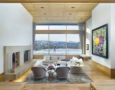 Ridge House is set along a ridgeline with significant mountain views. This contemporary house is a thoughtful blending of old and new with modern architecture mixed with curated details. Architecture Photo, Contemporary Architecture, Home Interior, Interior Design, Ground Floor Plan, Through The Window, Architect House, White Walls, Old And New