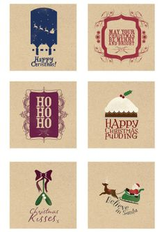Christmas Cards by Jess Bright - #graphic #print