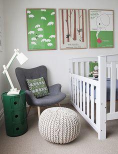 Bebê com Estilo: Verde + cinza