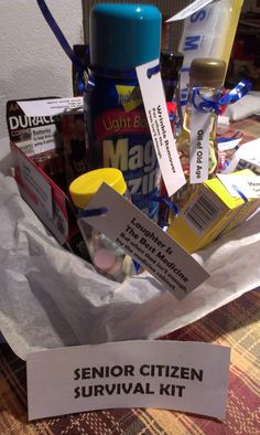 """My dad is turning 70 this year and I wanted to do something fun! I got my inspiration from Creative """"Try"""" Als and added some of my own funny gifts. Being that my dad has the best sens…"""