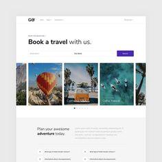 Jenia Stratila в Instagram: «GO - Multipurpose Bootstrap Template 🔵 To buy, visit the link in bio.  #userinterface #userexperience #uidesign #uxdesign #uxui #uiux…» Bootstrap Template, What Type, User Experience, Ux Design, Oahu, User Interface, Tourism, Templates, Adventure