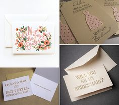Be-My-Bridesmaid-Inspiration - Read more on One Fab Day: http://onefabday.com/be-my-bridesmaid-ideas/