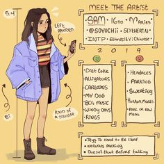 ((Meet the artist this will probably be the first and last time I draw myself this year,,, Cute Art Styles, Cartoon Art Styles, Arte Sketchbook, Art Challenge, Meet The Artist, Character Design Inspiration, Aesthetic Art, Drawing Reference, Cool Drawings