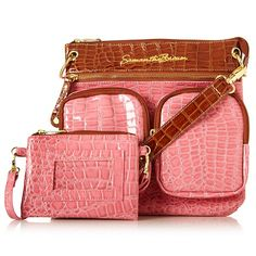 Samantha Brown Square Crossbody Bag with Wristlet - HSN ($45)  Good for grocery shopping or special event where u need hands to be free.