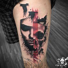 tattoo trash polka for men & tattoo trash . tattoo trash polka for men . Forarm Tattoos, Red Tattoos, Pin Up Tattoos, Mini Tattoos, Tattoos For Guys, Cool Tattoos, Tigh Tattoo, Phenix Tattoo, Tatouage Rock And Roll
