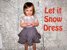 DIY Clothes Refashion: DIY Let it Snow Dress
