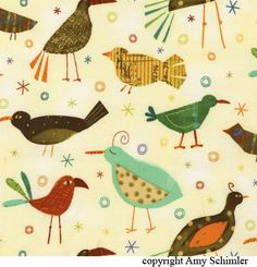 ::Bird Fabric Design::