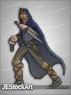 JEStockArt - Fantasy - Human Master Spy in Cape - CNB