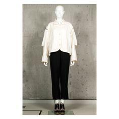 Vintage 1980s linen avantgarde Ann Demeulemeester deconstructed jacket by VintageKabinet on Etsy