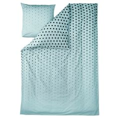 Cube duvet cover and pillow case, blue
