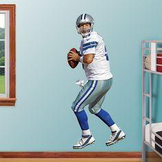 Tony Romo - Home REAL.BIG. Fathead – Peel & Stick Wall Graphic | Dallas Cowboys Wall Decal | Sports Home Décor | Football Bedroom/Man Cave/Nursery