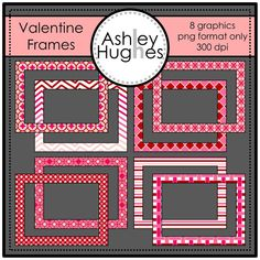 FREE Valentine's Day Frames: Graphics/Clipart for Commercial Use