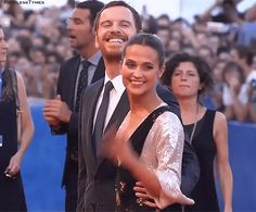 """Michael Fassbender & Alicia Vikander at the""""The Light Between Oceans"""" Premiere - Venice Film Festival 2016 Kevin Spacey, Festival 2016, Film Festival, Alicia Vikander Style, Michael Fassbender And Alicia Vikander, The Light Between Oceans, 12 Years A Slave, Ben Barnes, Jane Eyre"""