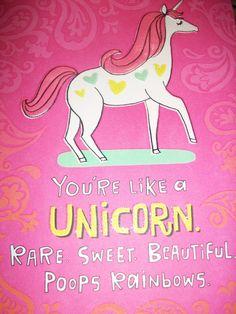 unicorn poop birthday card - Google Search