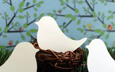 Wedding Place Cards Love Birds Set of 100. $9.00 in lime
