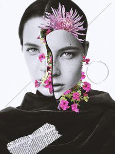 Digital fashion collages by Mouhcine Laghzal. - Digital fashion collages by Mouhcine Laghzal. Surreal Collage, Surreal Art, Collages, Face Collage, Collage Portrait, Fashion Collage, Fashion Art, Trendy Fashion, Fashion Design