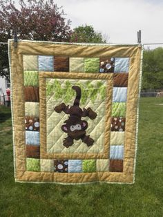 Dinosaur Quilt | Babies, Kid quilts and Patchwork : jungle theme baby quilt patterns - Adamdwight.com