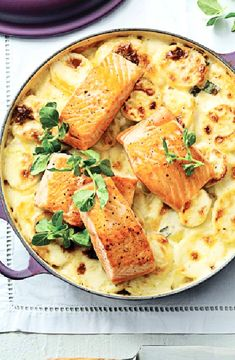 Baked salmon with potatoes -- Low FODMAP Recipe and Gluten Free Recipe #lowfodmaprecipe #glutenfreerecipe #lowfodmap #glutenfree