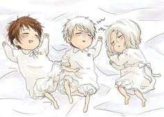Baby!France, Baby!Prussia, & Baby!Spain || Hetalia