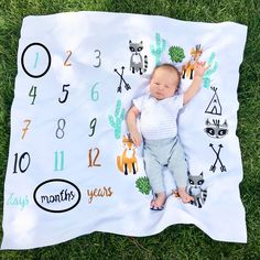 Pregnancy Announcements, Custom Reveals, And More! Monthly Pictures, One Month Old, Baby Milestone Blanket, Everything Baby, Baby Milestones, First Baby, Baby Hacks, Little Miss, Maternity Fashion