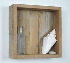 "Reclaimed Wood Shadow Box / Shelf  $40 each  Square: Length: 10"" Width: 3 1/4"" Height: 10""  Rectangle: Length: 6"" Width: 3 1/4"" Height: 12"""