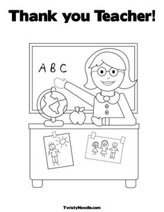 Thank you coloring sheet for the kids to color when we ...