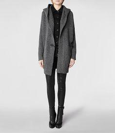 Womens Taro Cardigan (Charcoal Marl)