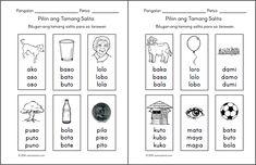 Preschool Filipino Worksheets Bundle Vol. Free Printable Worksheets, Kindergarten Worksheets, Worksheets For Kids, Kindergarten Reading, Printables, 1st Grade Reading Worksheets, Reading Comprehension For Kids, Tagalog, Grade 1