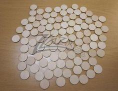 "Wood Circles 1.25""x1/8"" Craft Disc Flat Hard wood Shapes USA MADE! (1-1/4"")"