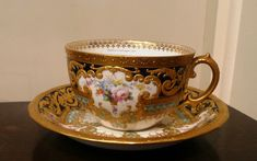 royal crown derby raised gilt plate | Tennants Auctioneers: A Royal Crown Derby Porcelain Bouillion Cup and ...