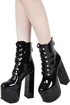 4d1793f5c76 Trance Platform Boots  B . Platform High HeelsGoth ...