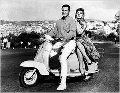 Labretta. Desde <em>Vacaciones en Roma</em>, cuando se rodaba en Italia no podía faltar una escena en Vespa o en este caso en Lambretta, su competencia.
