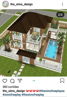 Sims 3 Houses Ideas, Sims 4 Houses, Sims Ideas, Casas The Sims Freeplay, Sims Freeplay Houses, Sims 4 Modern House, Sims 4 House Design, Sims 4 House Plans, Sims 4 House Building