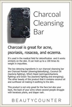 Great for acne, rosacea, psoriasis, eczema---my husband noticed that it got rid of his large pores and blackheads! Safe, pure and it works great! Find out more here...Beautycounter.com/shariallison. #charcoalbar #skincare #face #beautycounter