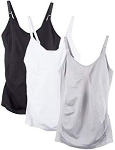 eb33062633 3 Pack Women s Nursing Cami Built in Bra Maternity Nursing