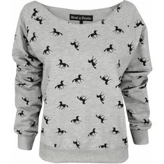 Brat and Suzie Horse Print Sweater ❤ liked on Polyvore