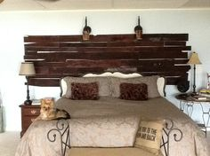 My Pallet wall- this looks so rustic and glam at the same time.  Nice job