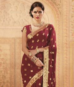 Drape yourself in this lissom and alluring saree to be the centre of attention everywhere you go. Be it a kitty party  some function  wedding or a private party- you are sure to be the spite of every woman and the dream of every man. fashionandyou.com brings to you Brijraj. Capture the tradition of elegance with this diversified range that is designed to combine style and sophistication!Design Highlights: Self weaving work with lace strip borderBRAND: BrijrajCATEGORY: Saree with Unstitched…