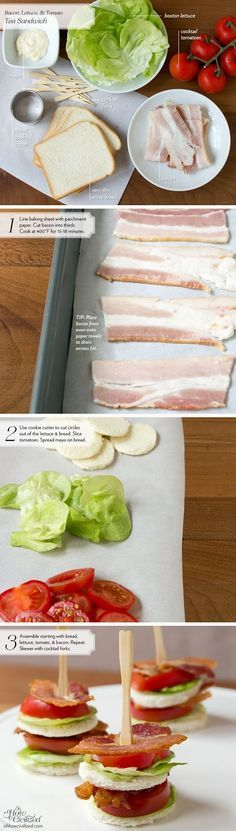 BLT bite-sized Sandwiches