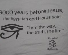 The similarities go on and on between Horus and Jesus. Face it, the bible authors plagiarized!