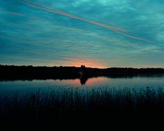 Burning House (August, sunrise) - Carrie Schneider